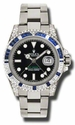 Rolex GMT Master II Black Automatic 18kt White Gold Oyster Mens Watch 116759BKSABL