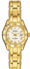 Rolex Oyster Perpetual Pearlmaster 18kt Yellow Gold Diamond Ladies Watch 80318-PM
