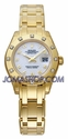 Rolex Pearlmaster White Arabic Dial Pearlmaster Bracelet Diamond Bezel 18k Yellow Gold Ladies Watch 80318WAO