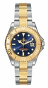 Rolex Yachtmaster Blue Index Dial Oyster Bracelet Two Tone Unisex Watch 168623BLSO