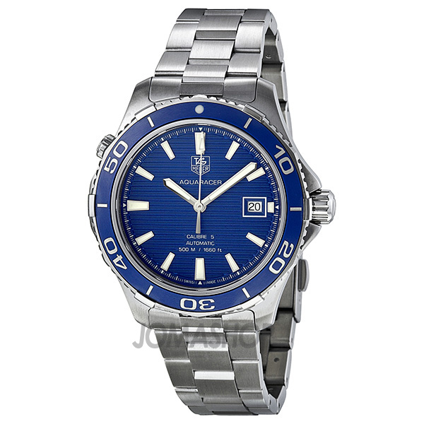 Tag Heuer Aquaracer Calibre 5 Blue Dial Stainless Steel Automatic Men's Watch WAK2111.BA0830 ... Michael Kors Watches Black Ceramic