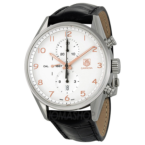 Tag Heuer Carrera Calibre 1887 Chronograph Automatic Silver Dial Mens Watch CAR2012.FC6235-奢品汇 | 海淘手表 | 腕表资讯