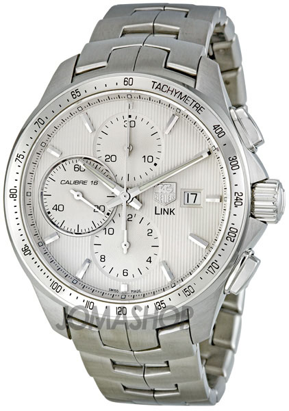 tag heuer link silver chronograph automatic s