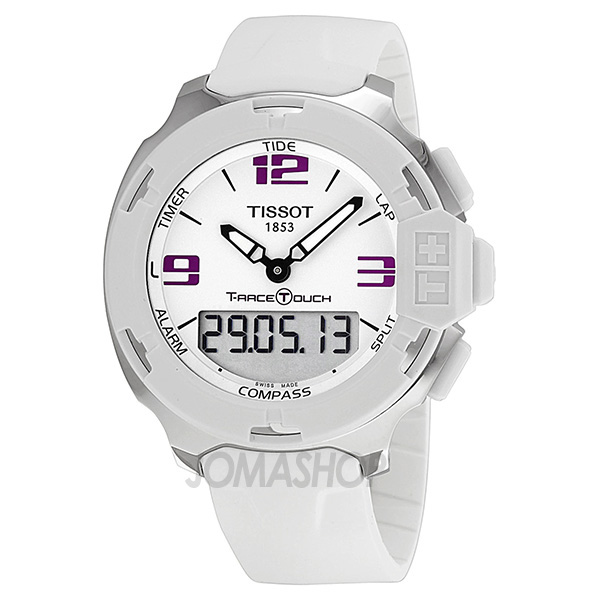 Tissot T-Race Analog Digital White Rubber Mens Watch T0814201701700 天梭 T系赛车手表-奢品汇 | 海淘手表 | 腕表资讯