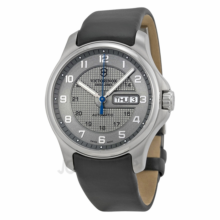victorinox officer s day date automatic grey s