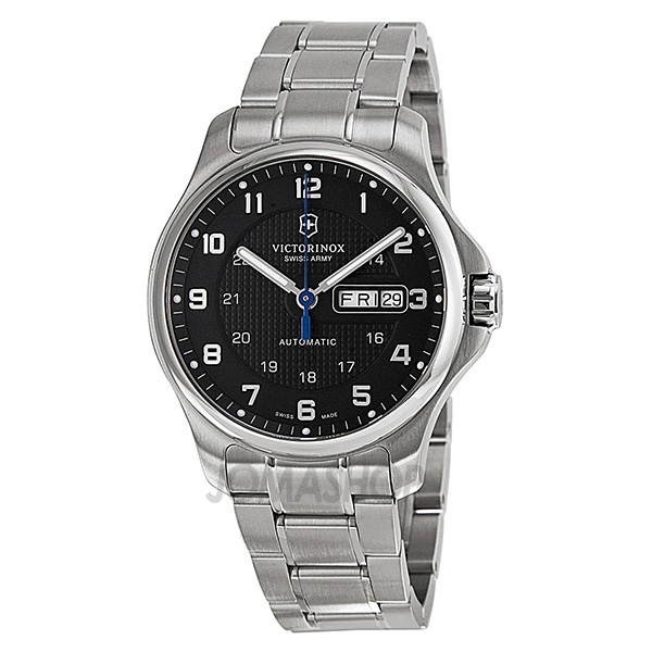 victorinox swiss army officers automatic black dial