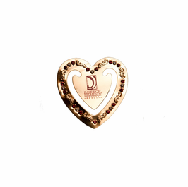 Heart Book Mark Solid Brass