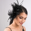 5641C - Feather Fascinator comb Fascinator