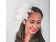 5641C - Feather Fascinator comb