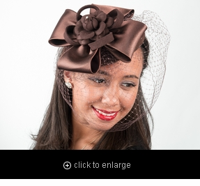 5687P - Felt Fascinator w/Hair Clip / Elastic