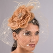 5710C - Silk Flower / Veil Comb Fascinator