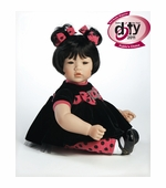 "Adora Dolls <br />20"" Name Your Own Baby Black Velvet Doll"