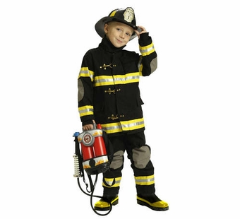 Aeromax<br />Fire Fighter Suit, Black
