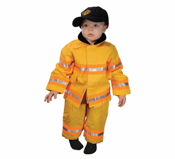 Aeromax <br />Jr. Fireman Costume (Yellow)
