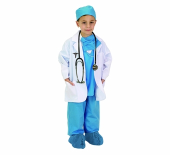 Aeromax <br />Jr. Physician Blue Costume