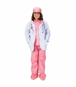 Aeromax <br />Jr. Physician Pink Costume