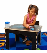 Anatex <br />Flip Top Dry Erase and Chalk Table with 1 Bench - Natural