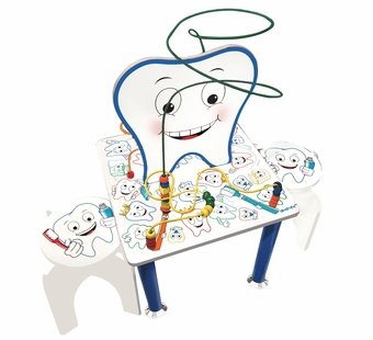 Anatex <br />Smiley Tooth Table & Stools
