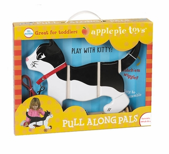 Applepie Toys <br />Black and White Cat Pull Toy