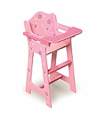 Badger Basket Doll Furniture <br />Blossoms & Butterflies Doll High Chair