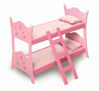 Badger Basket Doll Furniture <br />Blossoms & Butterfly Doll Bunk Beds with Ladder