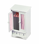 Badger Basket Doll Furniture <br />Doll Armoire with Three Hangers