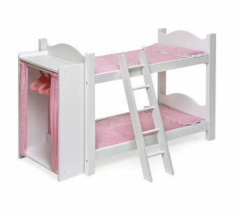 Badger Basket Doll Furniture <br />Doll Bunk Beds/Armoire