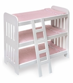 Badger Basket Doll Furniture <br />Doll Triple Bunk Beds with Ladder