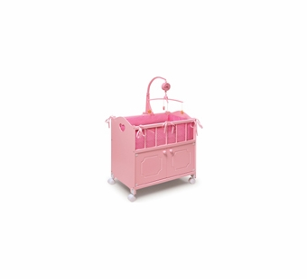 Badger Basket Doll Furniture <br />Pink Doll Crib
