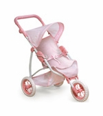 Badger Basket Doll Furniture <br />Three Wheel Doll Jogging Stroller