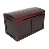 Badger Basket Doll Furniture <br />Toy Chest with Barrel Top in Cherry Hardwood