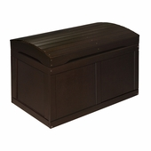 Badger Basket Doll Furniture <br />Toy Chest with Barrel Top in Espresso Hardwood