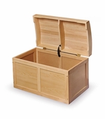Badger Basket Doll Furniture <br />Toy Chest with Barrel Top in Natural Hardwood