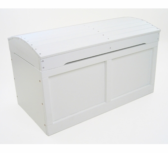 Badger Basket Doll Furniture <br />Toy Chest with Barrel Top in White Hardwood