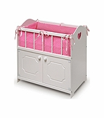 Badger Basket Doll Furniture <br />White Storage Crib