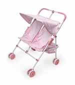 Badger Basket <Br />Double Umbrella Doll Stroller