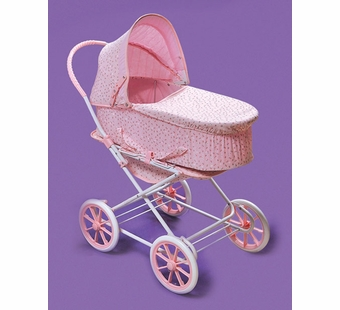 Badger Basket <Br />Pink Rosebud 3-in-1 Doll Pram Carrier Stroller