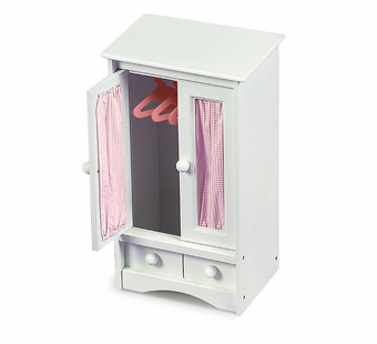 Badger Basket <Br />Princess Collection Doll Armoire with Pink Gingham and 3 hangers