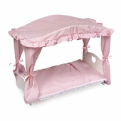 Badger Basket <Br />Princess Collection Doll Canopy Bed with Pink Gingham Bedding