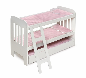 Badger Basket <Br />Princess Collection Trundle Doll Bunk Beds with Ladder