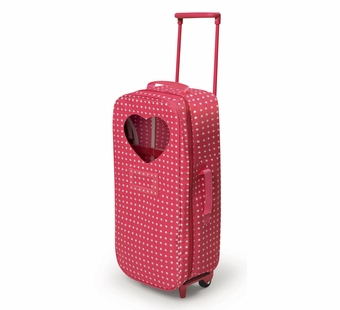 Badger Basket <Br />Trolley Doll Travel Case with Rocking Bed and Bedding - Star Pattern