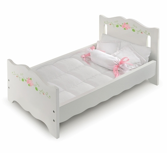 Badger Basket <Br />White Rose Collection Doll Bed