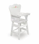 Badger Basket <Br />White Rose Collection Doll High Chair
