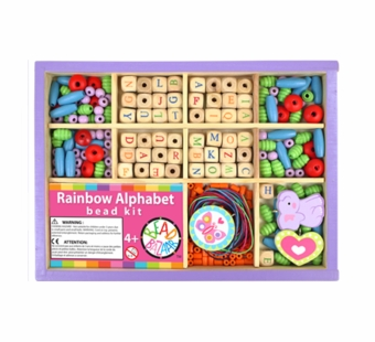 Bead Bazaar <br />Rainbow Alphabet Bead Box Kit