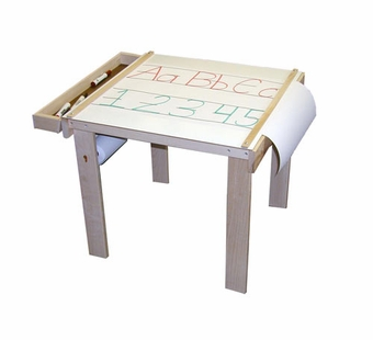 Beka <br />Art Table,one wood tray, paper holder under table