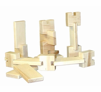 Beka <br />Hardwood Unit Blocks 18 Pieces