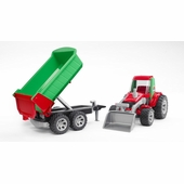 Bruder <br />Roadmax Tractor with Frontloader & Rear Tipper