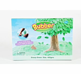 Bubber Modeling Clay <br />Green Bubber in a Box 15 oz.