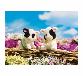 Calico Critters <br />Friesian Cow Twins