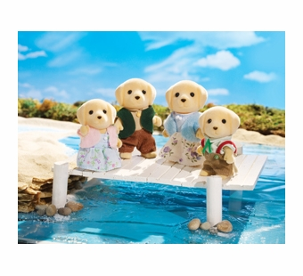 Calico Critters <br />Yellow Labrador Family
